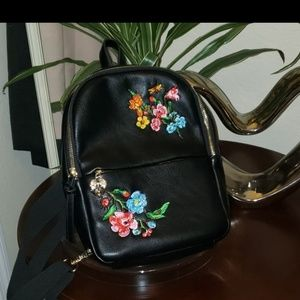 Betsey Johnson slingshot black backpack